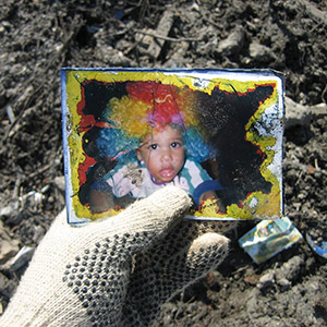 Picture in the rubble